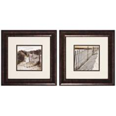 Set of 2 Dunes and Sand Framed Wall Art