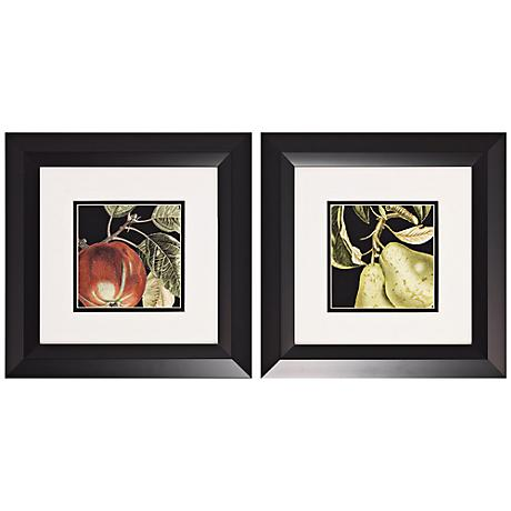 Set of 2 Apple and Pear Prints Wall Art