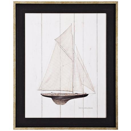 "Sailboat I 33"" High Framed Wall Art"