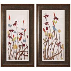 Set of 2 Meadow I and II  Framed Wall Art