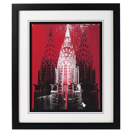"Chrysler Building Framed 29"" High Wall Art"
