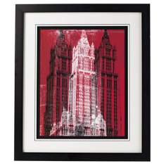 "Woolworth Building Framed 29"" High Wall Art"