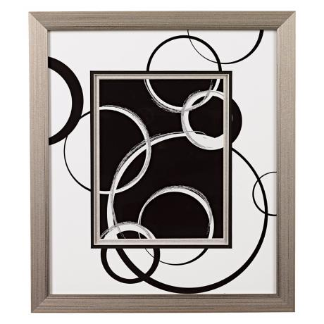 Black and White Spheres A Framed Wall Art