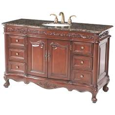 Princeton Baltic Brown Granite Single Sink Vanity