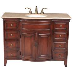 Yorktown Travertine Marble Single Sink Vanity