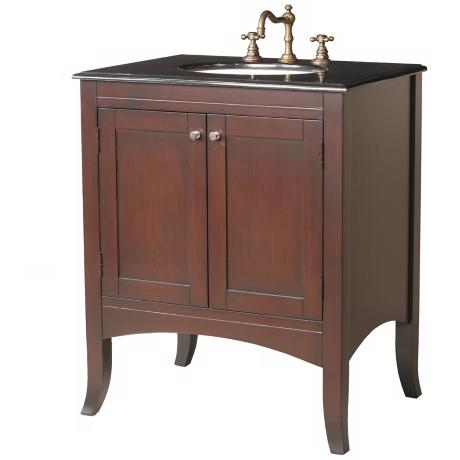 Lynette Black Galaxy Granite Single Sink Vanity