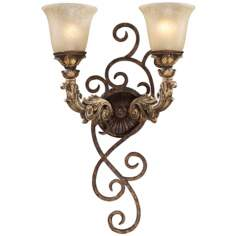 "Regency Collection 24"" High 2-Light Wall Sconce"