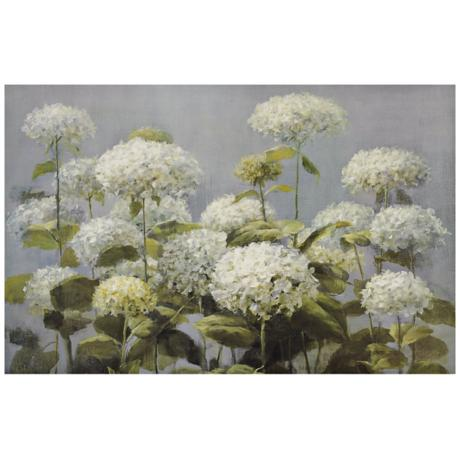 "Hydrangea Garden Canvas Print 35"" Wide Wall Art"