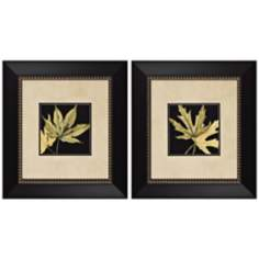 Set of 2 Leaves I and IV Prints Wall Art