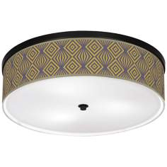"Deco Revival Giclee 20 1/4"" Wide Ceiling Light"