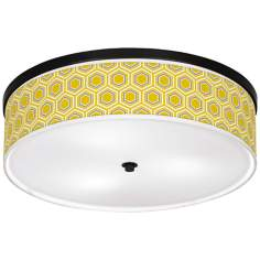 "Honeycomb Giclee 20 1/4"" Wide Ceiling Light"