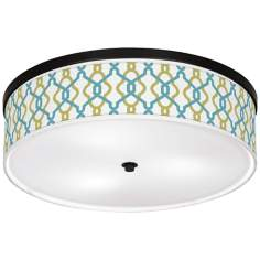 "Hyper Links Giclee 20 1/4"" Wide Ceiling Light"