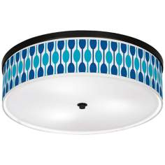 "Jet Set Giclee 20 1/4"" Wide Ceiling Light"