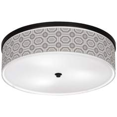 "Luxe Tile Giclee 20 1/4"" Wide Ceiling Light"