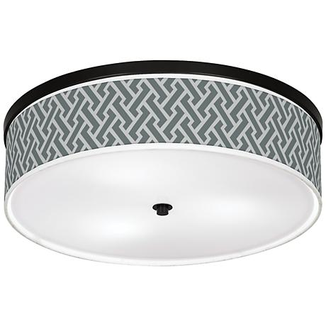 "Smoke Brick Weave Giclee 20 1/4"" Wide Ceiling Light"