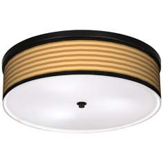 "Butterscotch Parallels 20 1/4"" Wide CFL Bronze Ceiling Light"