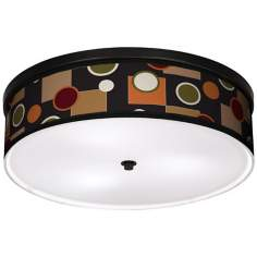 "Retro Medley 20 1/4"" Wide CFL Bronze Ceiling Light"
