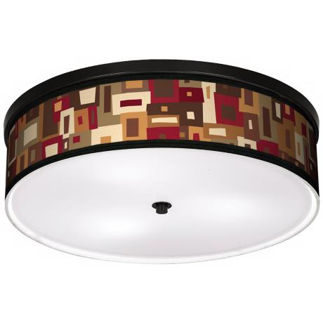 "Earth Palette 20 1/4"" Wide CFL Bronze Ceiling Light"