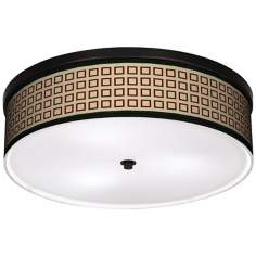 "Simply Squares 20 1/4"" Wide CFL Bronze Ceiling Light"