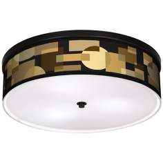 "Earthy Geometrics 20 1/4"" Wide CFL Bronze Ceiling Light"