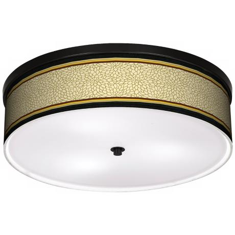 "Avocado Dahlia 20 1/4"" Wide CFL Bronze Ceiling Light"