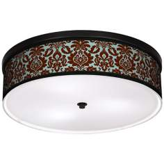 "Kiwi Tini Florence 20 1/4"" Wide CFL Bronze Ceiling Light"