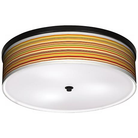 "Harvest Stripe 20 1/4"" Wide CFL Bronze Ceiling Light"
