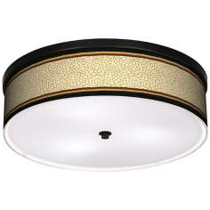 "Spice Dahlia 20 1/4"" Wide CFL Bronze Ceiling Light"