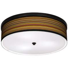 "Spice Stripe 20 1/4"" Wide CFL Bronze Ceiling Light"