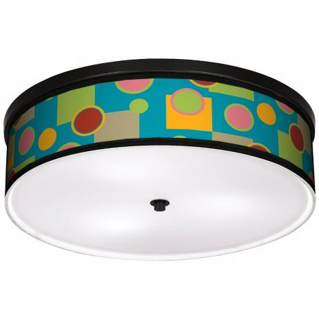 "Vibrant Retro Medley 20 1/4"" Wide CFL Bronze Ceiling Light"