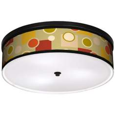 "Retro Citrus Medley 20 1/4"" Wide CFL Bronze Ceiling Light"
