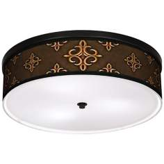 "Estate Mocha 20 1/4"" Wide CFL Bronze Ceiling Light"