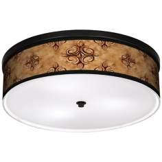 "Estate Nutmeg 20 1/4"" Wide CFL Bronze Ceiling Light"