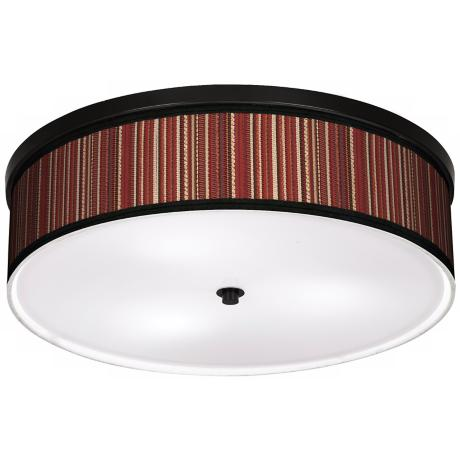 "Woven 20 1/4"" Wide CFL Bronze Ceiling Light"