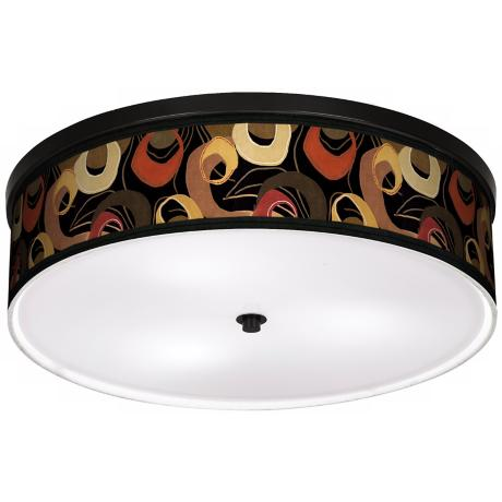 "Rhythm Motif 20 1/4"" Wide CFL Bronze Ceiling Light"