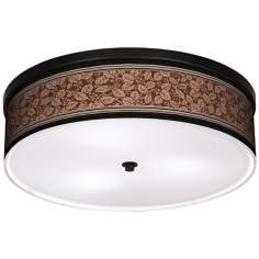 "Wooden Park 20 1/4"" Wide CFL Bronze Ceiling Light"