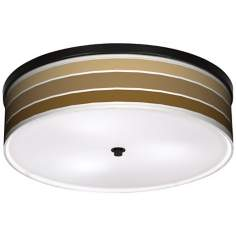 "Tones Of Chestnut 20 1/4"" Wide CFL Bronze Ceiling Light"