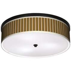 "Umber Stripes 20 1/4"" Wide CFL Bronze Ceiling Light"