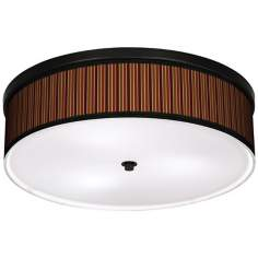 "Cinnamon Stripes 20 1/4"" Wide CFL Bronze Ceiling Light"