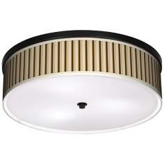 "Fawn Stripes 20 1/4"" Wide CFL Bronze Ceiling Light"
