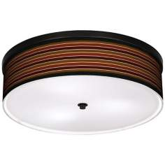 "Tones Of Sienna 20 1/4"" Wide CFL Bronze Ceiling Light"