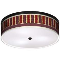 "Stacy Garcia Lexington Stripe 20 1/4"" Bronze Ceiling Light"
