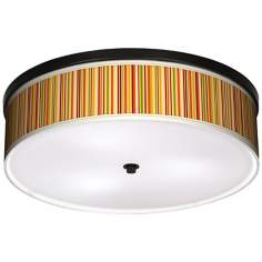 "Vertical Lemongrass 20 1/4"" Wide CFL Bronze Ceiling Light"