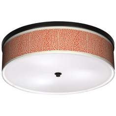 "Stacy Garcia Seafan Coral 20 1/4"" Wide Bronze Ceiling Light"