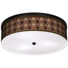 "Sienna Grey Circles 20 1/4"" Wide CFL Bronze Ceiling Light"