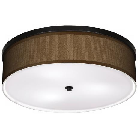 "Khaki 20 1/4"" Wide CFL Bronze Ceiling Light"