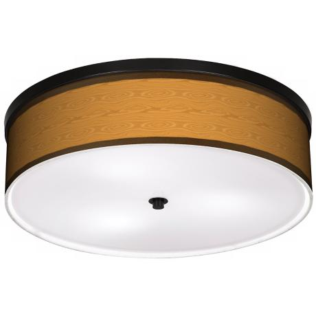 "Wood Grain 20 1/4"" Wide CFL Bronze Ceiling Light"