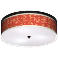"Tangerine Coral 20 1/4"" Wide CFL Bronze Ceiling Light"