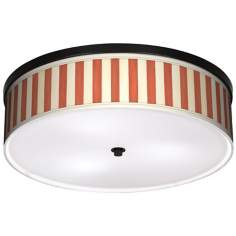 "Seaside Stripe Red 20 1/4"" Wide CFL Bronze Ceiling Light"