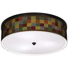 "Pixel Forest 20 1/4"" Wide CFL Bronze Ceiling Light"